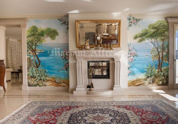 Il trompe l'oeil realizzato da Mariani Affreschi è ora completamente installato nella casa del committente
