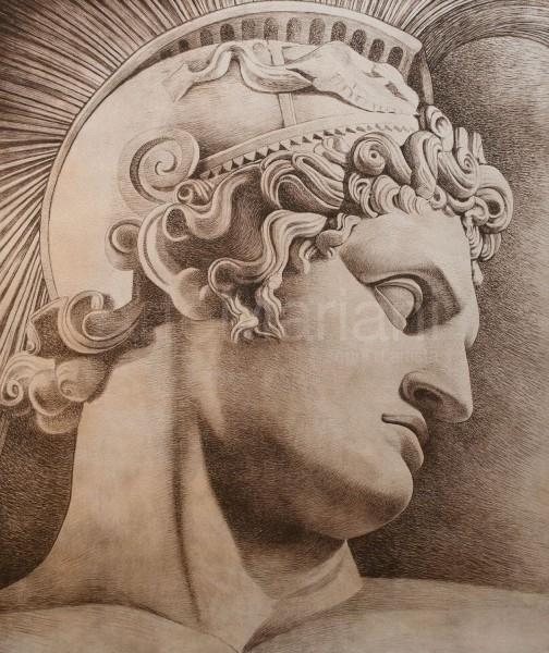 """""""Condottiero"""", con finitura in foglia argento antico fatta a mano, l'idea per un design d'interni speciale"""