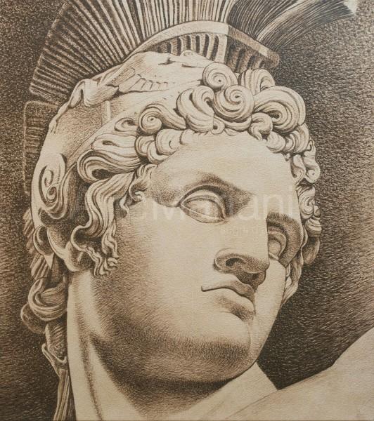 """""""Condottiero"""", con finitura in foglia argento antico, un connubio tra design classico e contemporaneo"""
