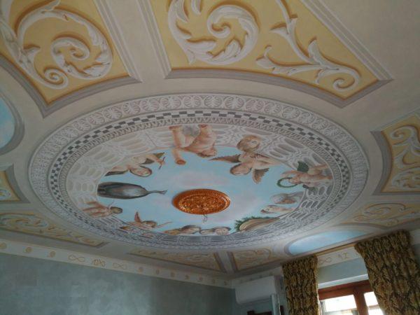 Soffitto della camera ispirato al Mantegna