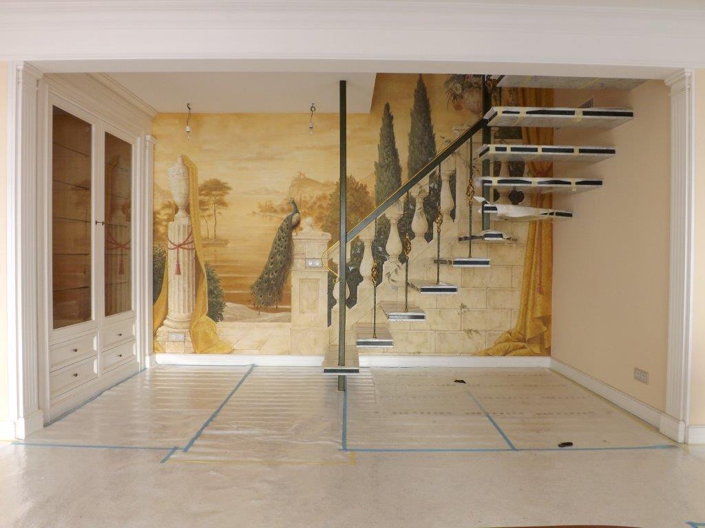 Scala Di Legno Decorativa il blog dell'affresco   una scala come scenografia per il